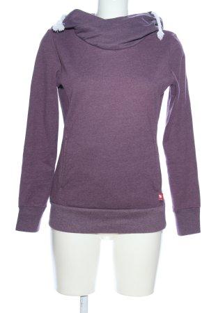 Crane Kapuzensweatshirt lila meliert Casual-Look
