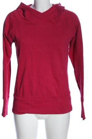 Crane Kapuzensweatshirt rot Casual-Look