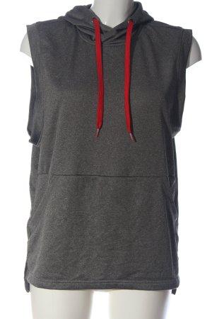 Crane Chaleco con capucha gris claro-rojo moteado look casual