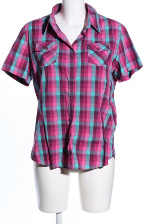 Crane Short Sleeve Shirt pink-turquoise allover print casual look