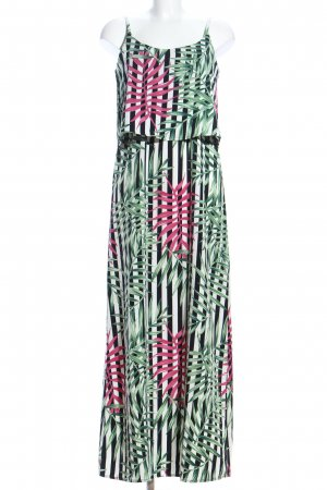 Crane Maxi Dress flower pattern casual look