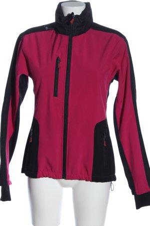 Crane Outdoorjacke pink-schwarz Casual-Look