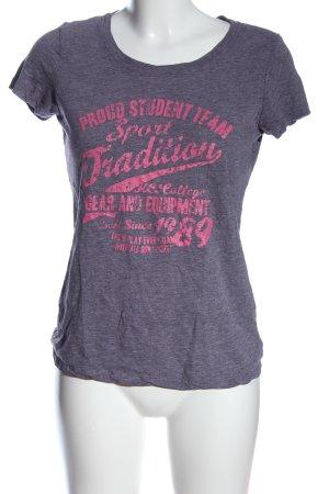 Crane Print Shirt pink-light grey flecked casual look