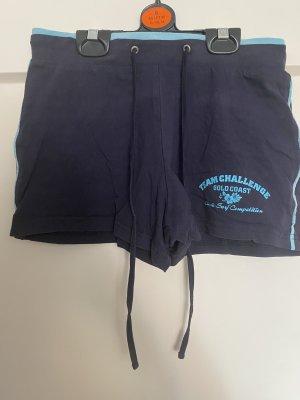 Crane Pantalón corto deportivo azul oscuro-azul claro