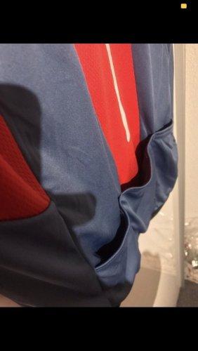 Crane sport oberteil tshirt jacke blau weiss rot mit taschen gr 38