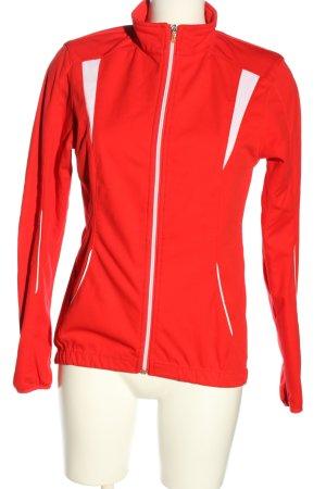 Crane Sportjacke rot-weiß Casual-Look