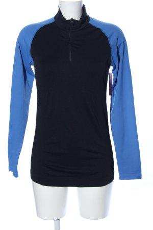 Crane Sportshirt schwarz-blau sportlicher Stil