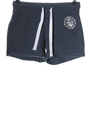 Crane Short de sport bleu-blanc style décontracté