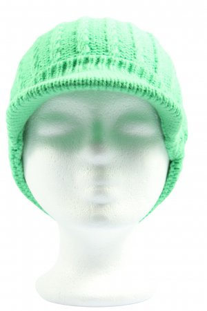 Crane Cappello a maglia verde punto treccia stile casual