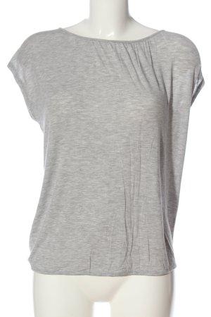 Crane T-Shirt hellgrau meliert Casual-Look