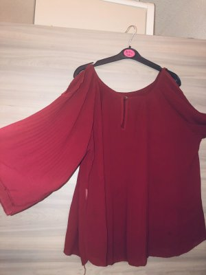 Crash Blouse dark red