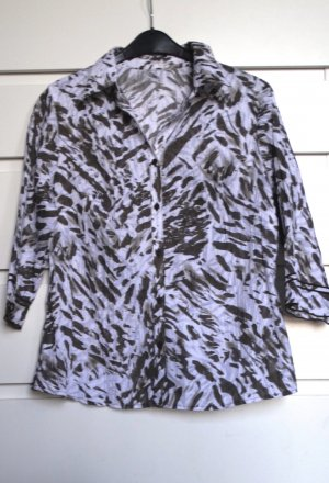 Crash-Bluse mit Animalprint