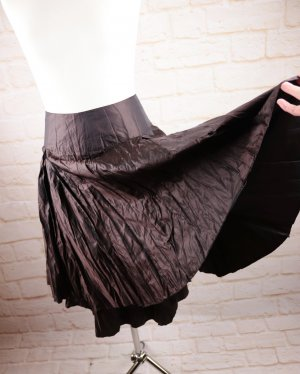 Bandolera Broomstick Skirt dark brown-brown mixture fibre