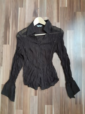 Blusa Crash marrone-nero Poliestere