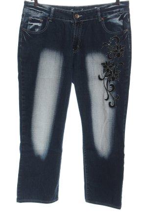 Crazy Age Jeans flare lettrage brodé style décontracté