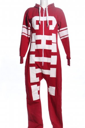 Crazy Age Onesie red-white printed lettering casual look