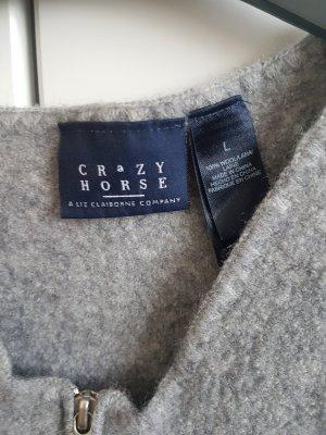 Knitted Vest light grey-grey wool