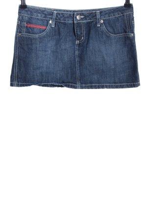 Gonna di jeans blu stile casual