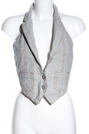 Denim Vest striped pattern casual look