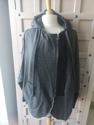 Crea Concept Giacca con cappuccio nero-grigio