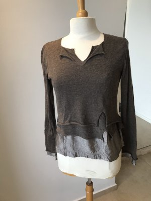 Crea Concept Wool Sweater light brown-grey brown