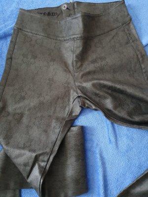 Cream Drainpipe Trousers dark grey