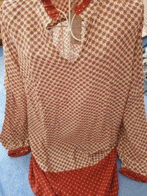 Cream Tunic Dress bronze-colored