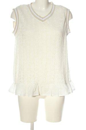 Cream ärmellose Bluse creme Casual-Look