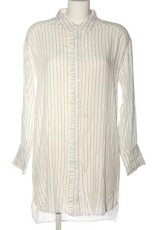 Cream Abito blusa crema-nero motivo a righe stile professionale