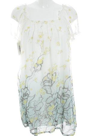 Cream Blouse Dress multicolored polyester