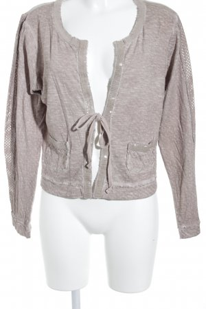 Cream Cardigan blasslila meliert Glitzer-Optik