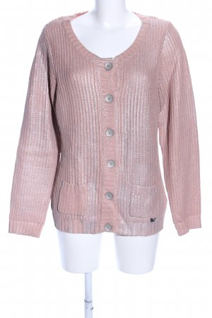 Cream Cardigan pink meliert Casual-Look