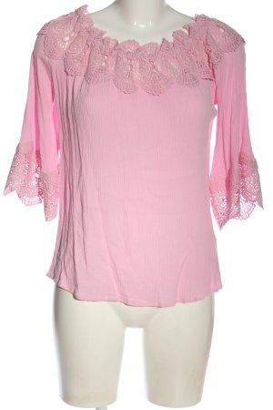 Cream Bluzka typu carmen różowy W stylu casual