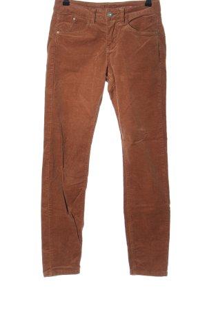 Cream Corduroy Trousers brown casual look