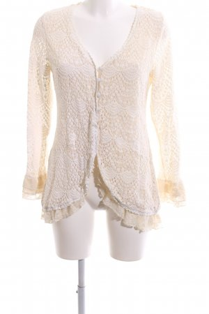 Cream Crochet Cardigan natural white elegant