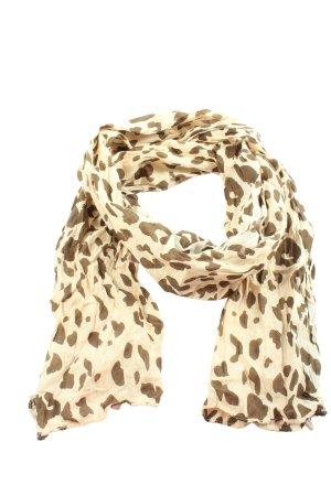 Cream Foulard crème motif léopard style décontracté