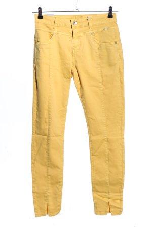 Cream Pantalon taille haute orange clair style décontracté
