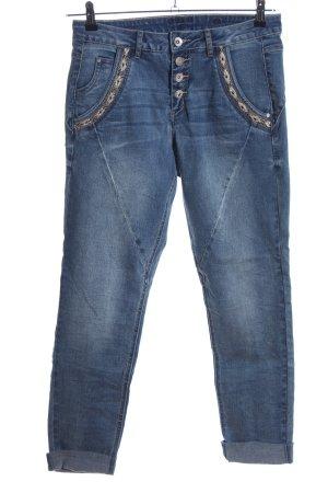 Cream Jeans a vita alta blu stile casual