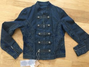 cream jeansjacke 34 xs neuwertig blau