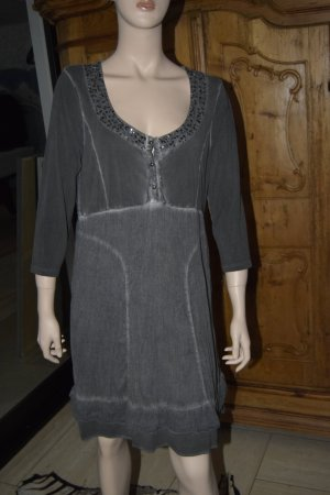 Cream Tunic Dress dark grey