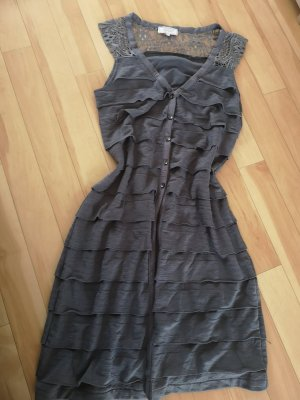 cream Kleid grau neuwertig 36 s