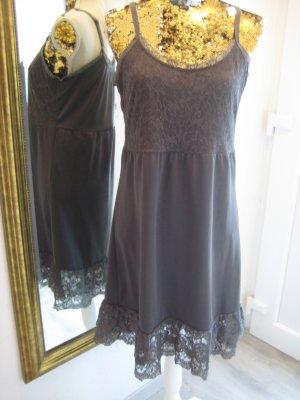 Cream Kleid Spagettiträger Blaugrau Gr L