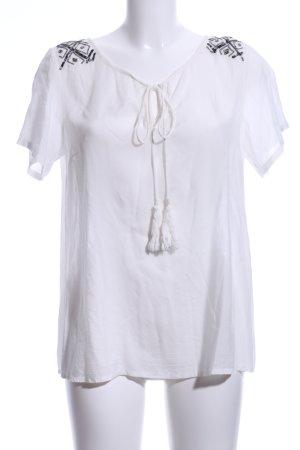 Cream Kurzarm-Bluse weiß Casual-Look