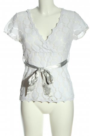 Cream Kurzarm-Bluse weiß Elegant