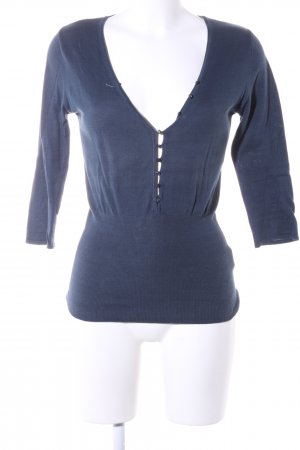 Cream Kurzarmpullover blau Business-Look