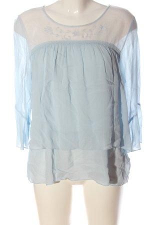 Cream Camicetta a maniche lunghe blu stile casual