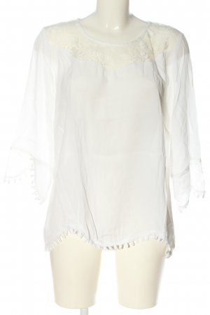 Cream Langarm-Bluse weiß Casual-Look