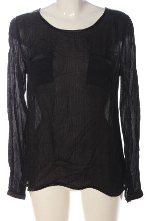 Cream Camicetta a maniche lunghe nero stile casual