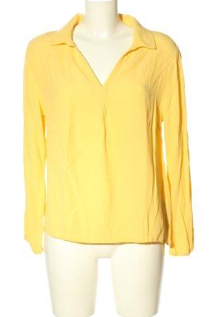 Cream Langarm-Bluse blassgelb Casual-Look