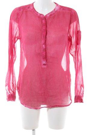 Cream Langarm-Bluse pink Casual-Look